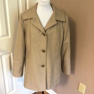 London Fog Wool Blend Button Pea Coat